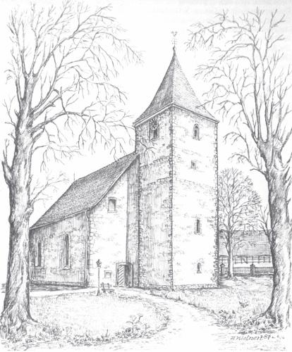 Die Großenederer Kirche<br>(A. Kleinert 1987)